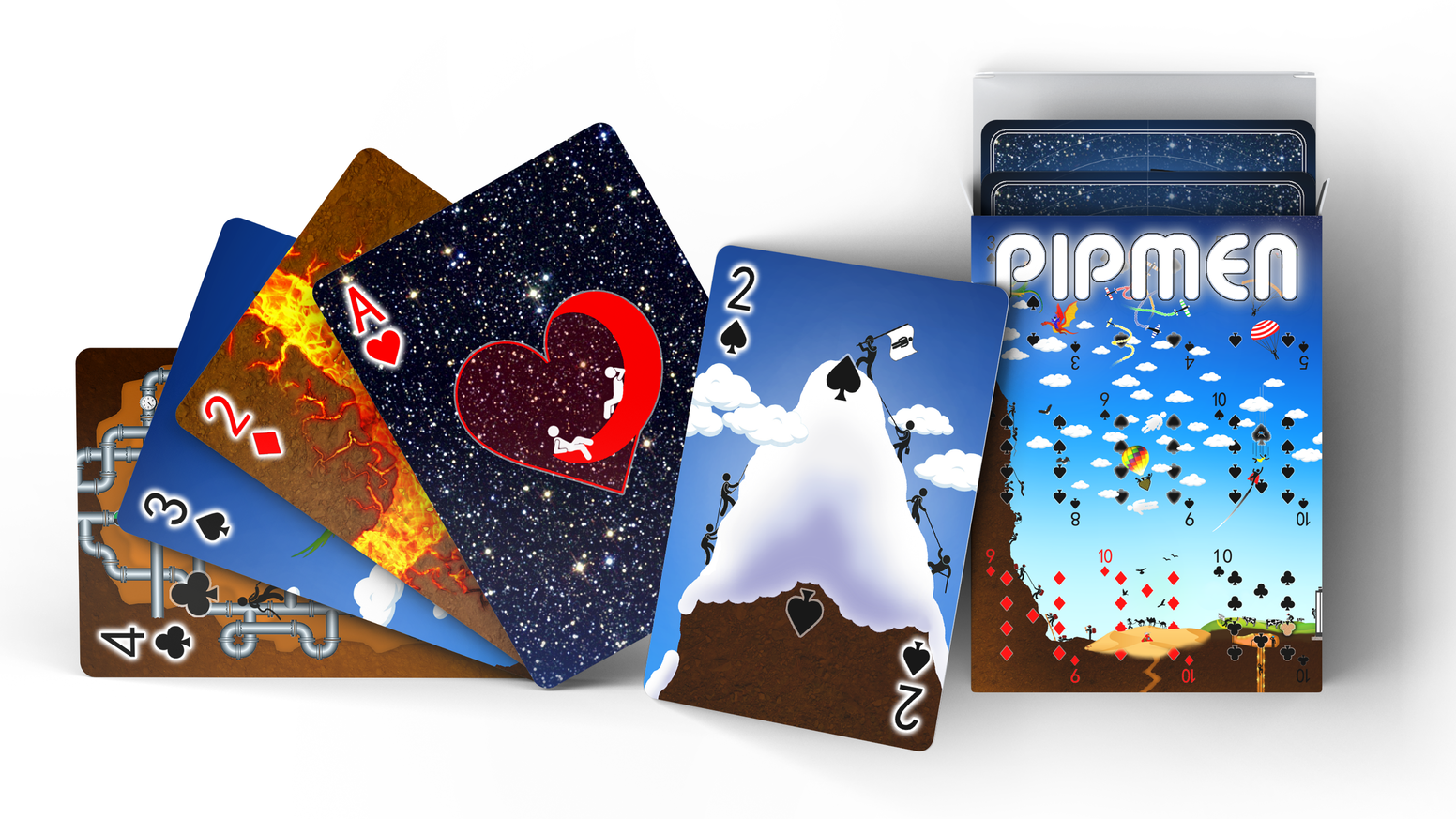 The full art version of the incredibly creative Poker Size Playing Cards in the World's First 54-Piece Polyptych Puzzle.