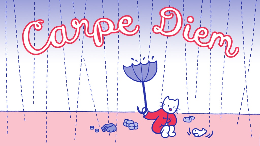 Carpe Diem: a fishy little risograph comic. project video thumbnail