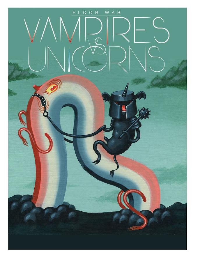 Vampires vs. Unicorns Poster by Travis Lampe
