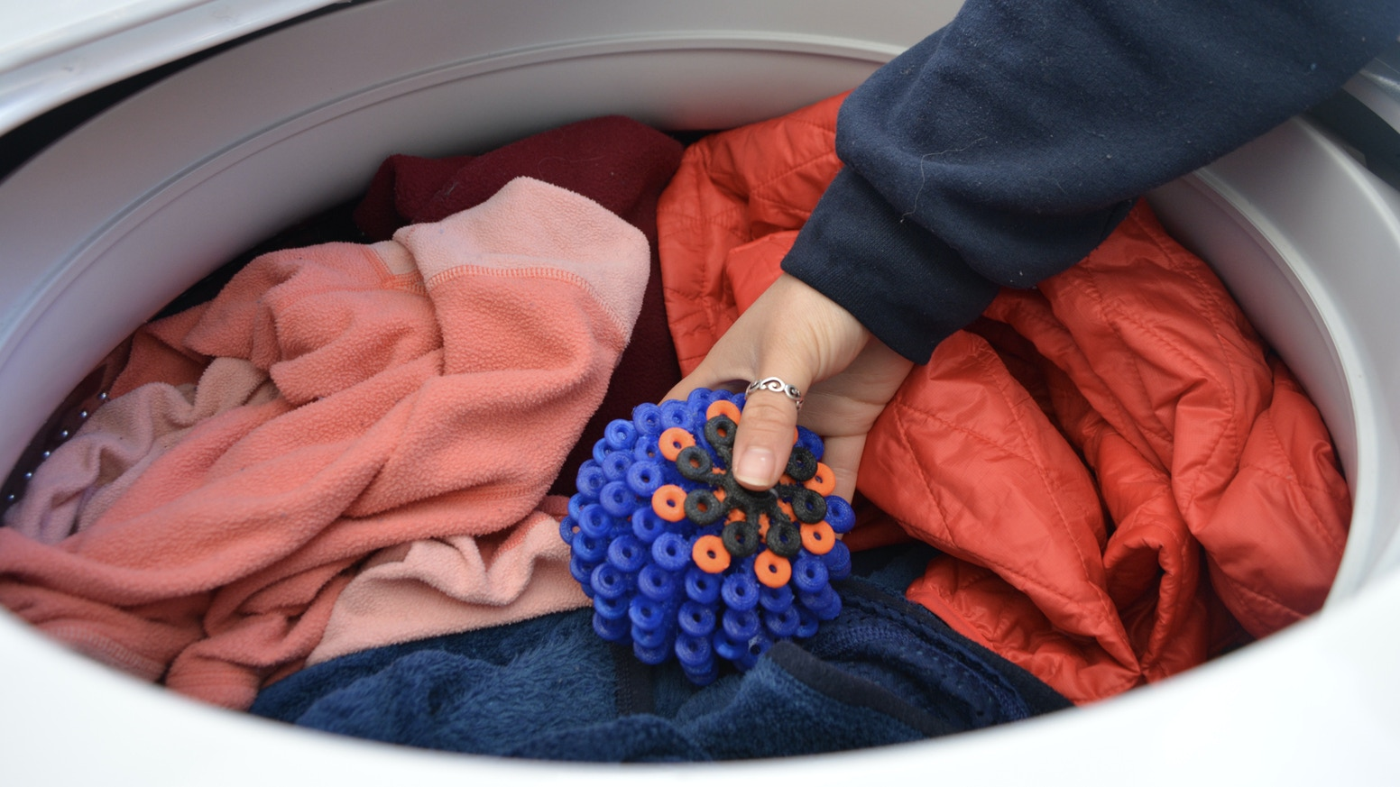 Protect the ocean environment with this easy-to-use laundry ball that catches microfibers shedding off our clothes in the washer.