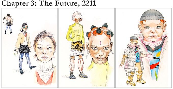 Chapter 3 character sketches: Tsang, Codex and Octavius.