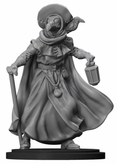 Plague Doctor miniature sculpting by Slawek Kosciukiewicz of Titan Forge