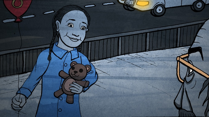 Forget Me Not Storyboard - Artwork by Si Clark