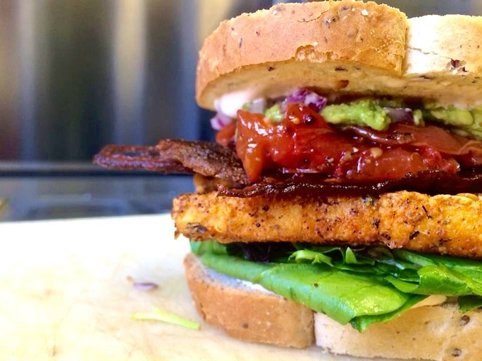 """The """"Cali Club"""" featuring our Eggplant Bacon"""