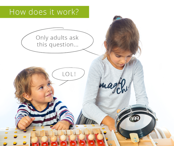 Kids experiment with Musicon and quickly understand how it works. What they create is what they hear!