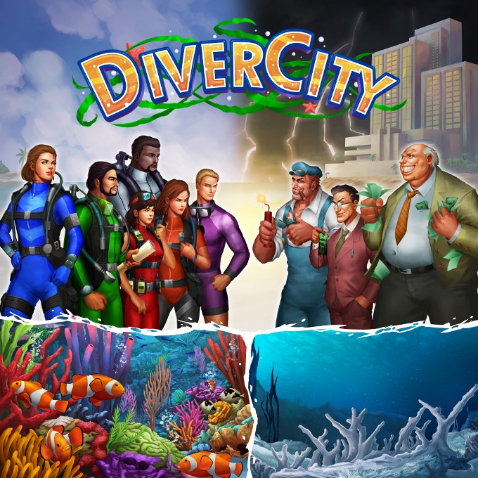 In DiverCity, a team of scientists and divers must unite against corporations which destroy the coral reefs, home to a host of diverse marine species