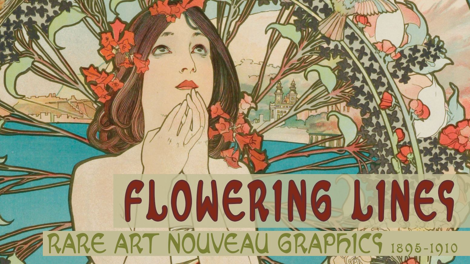 flowering lines rare art nouveau posters graphics 1895 1910 by
