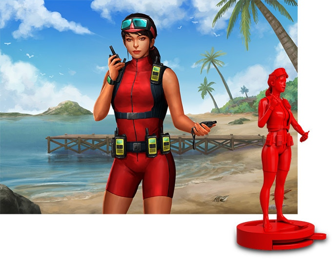 One of DiverCity's playable divers -- the Contact Specialist