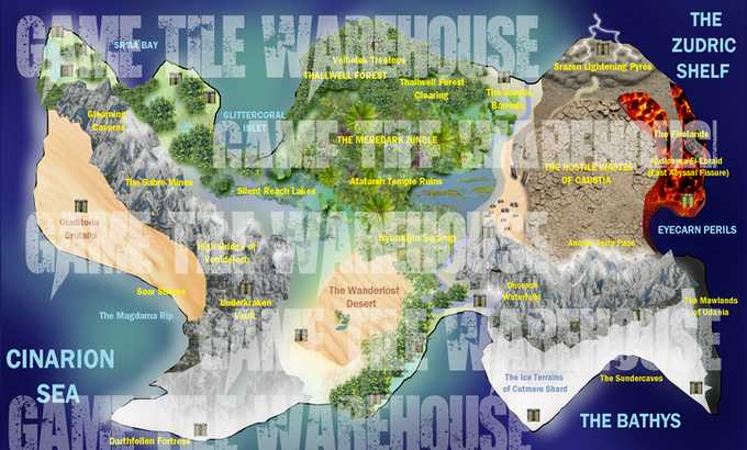 $3 for a VIP Meanders World Map - freely upgraded and re-supplied to return backers with new terrains in future campaigns as the Meanders range grows...