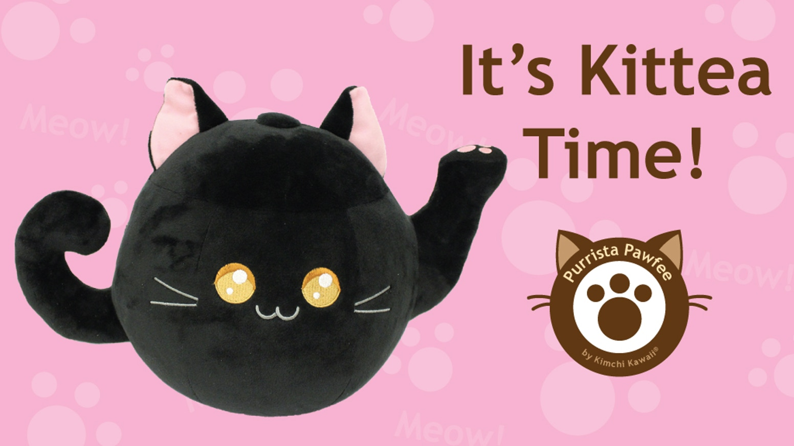 Kittea, a cute black cat teapot was funded in one week! Now you can get your own to cuddle :)