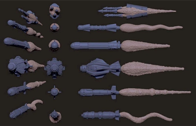 Render of Missile Markers used in the game