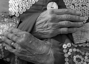Their hands are usually busy making button blankets and canning fish.