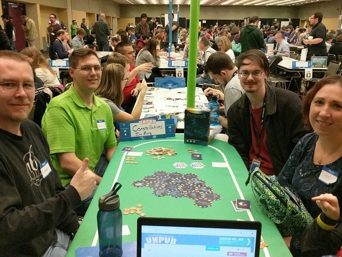 Playtesters at the Unpub Convention in Baltimore
