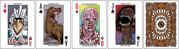 Examples from the deck and the front of the card.
