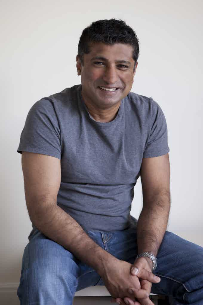 This is me. I asked Rebecca to make me look like George Clooney, Her response: 'I wish!'.