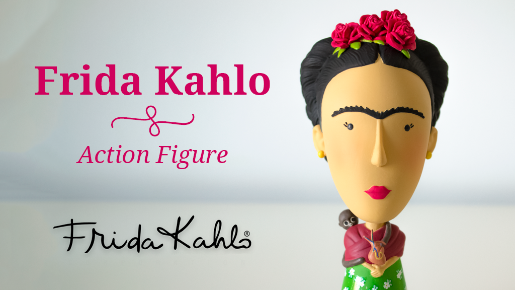 frida kahlo action figure by today is art day kickstarter