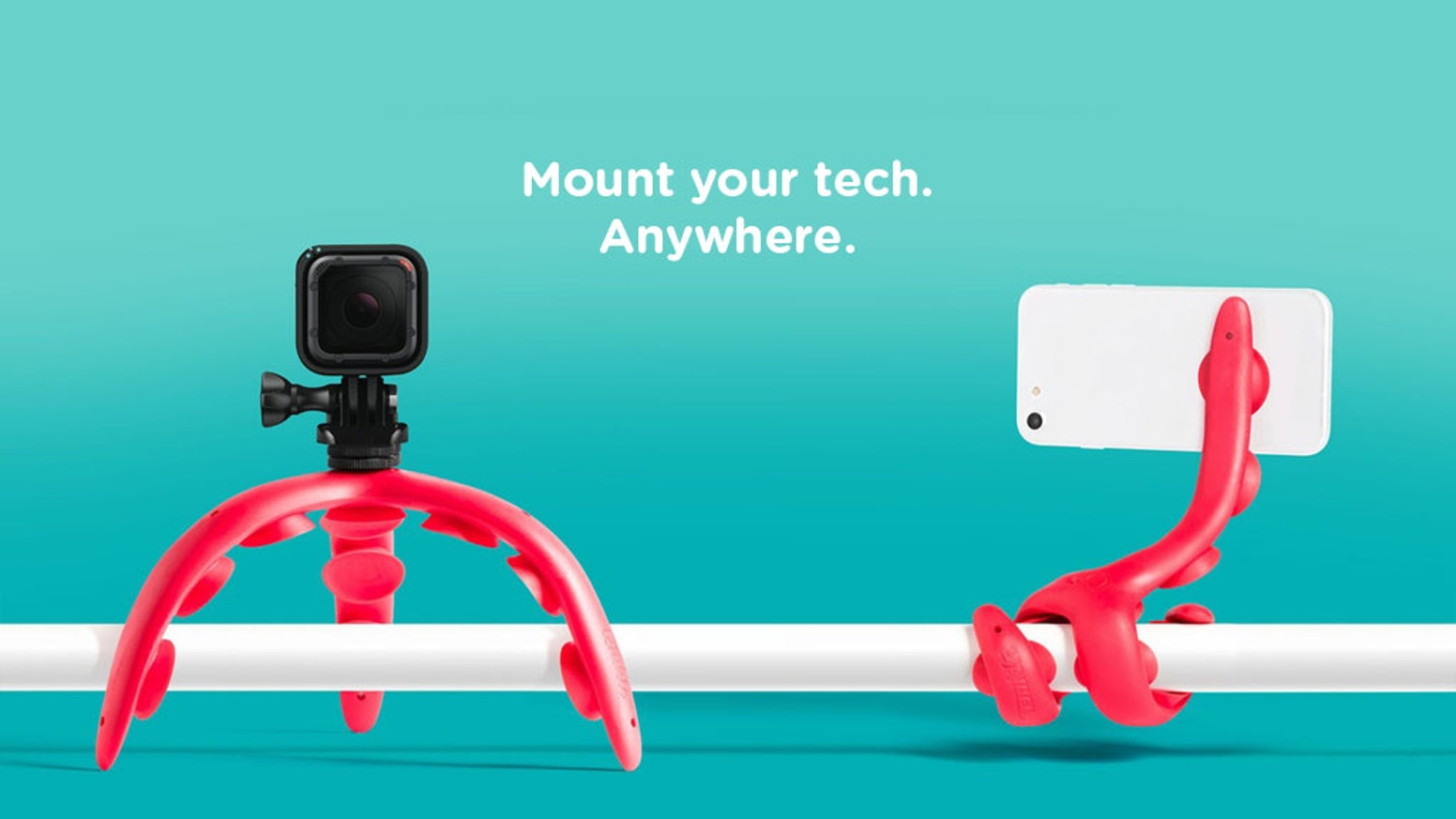 A personal cameraman, a car mount, a stand, and much more. Discover what's possible when tentacles meet tech.