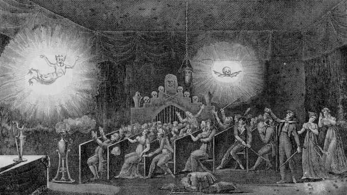 "Early 19th Century Light Show - Precursor To ""Spirit Drawing"""