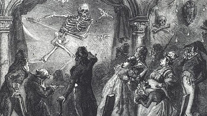 Ghostly Theatrical Manifestations As Depicted In A Vintage Illustration