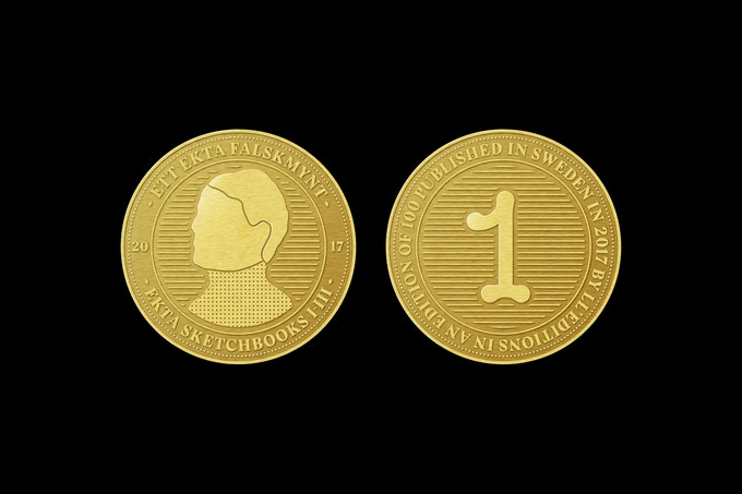 Part collectors' coin, part artist multiple; the Ekta coin has been designed by Lundgren+Lindqvist. The coin measures 31 x 31 mm and comes in a transparent acrylic coin box and is limited to a 100 copies, available only for supporters of the campaign.