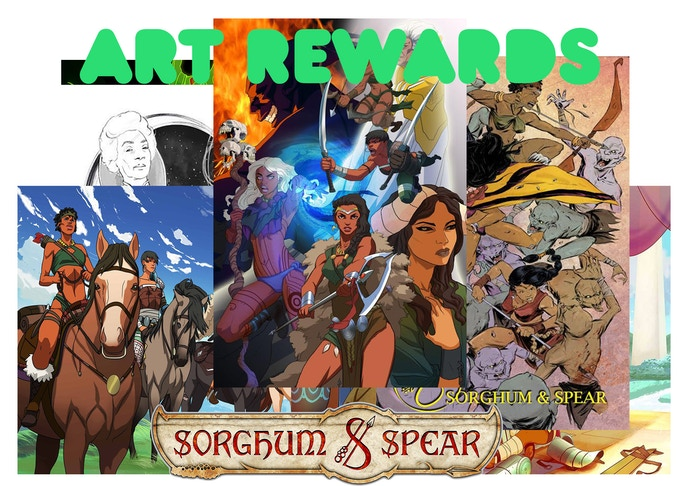 Sorghum & Spear Art Prints