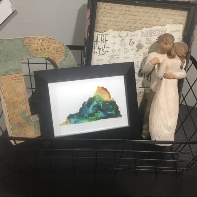 Virginia Print in Megan's Home
