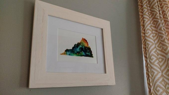 Framed Virginia Print in Emma's Home