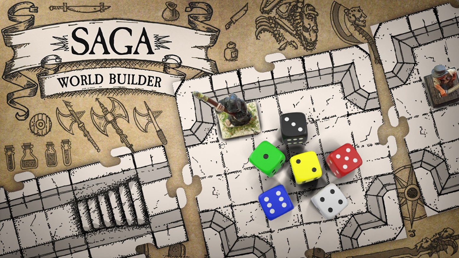 Saga world builder modular tiles for tabletop and dd games by saga create maps for penpaper role playing dd and miniature games dungeon gumiabroncs Gallery