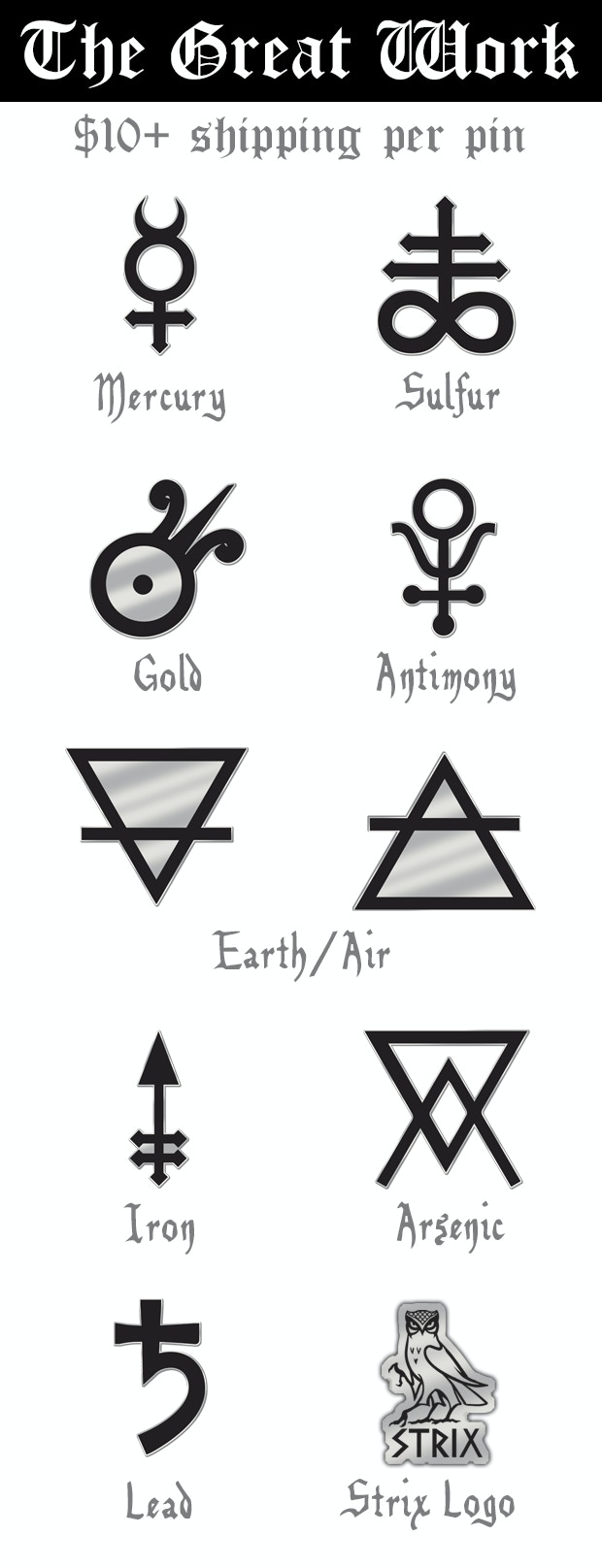 The great work alchemy symbol enamel lapel pins by simon berman different monitors may present these mockup pins in differing sizes actual production size is 15 buycottarizona Image collections