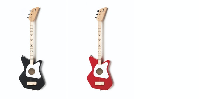 The Loog Pro Acoustic comes in black and red models. You'll be able to choose colors once the campaign ends.