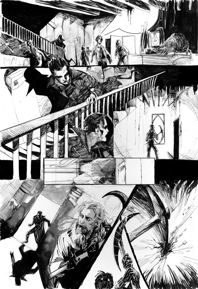 "Unlettered page from ""Beyond the Veil"" Art by Abigail J., Harding"