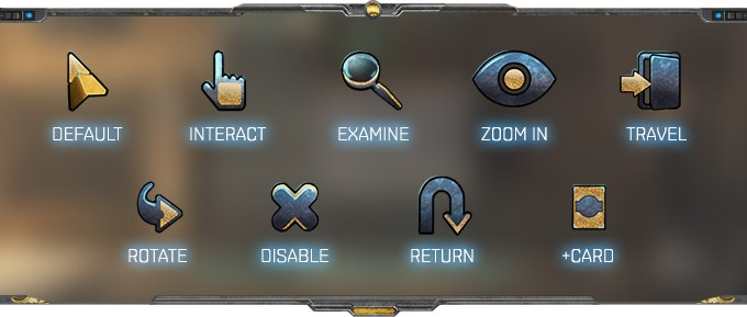 Cursors of Minotaur. Boss fights and control panels usually have special cursors.