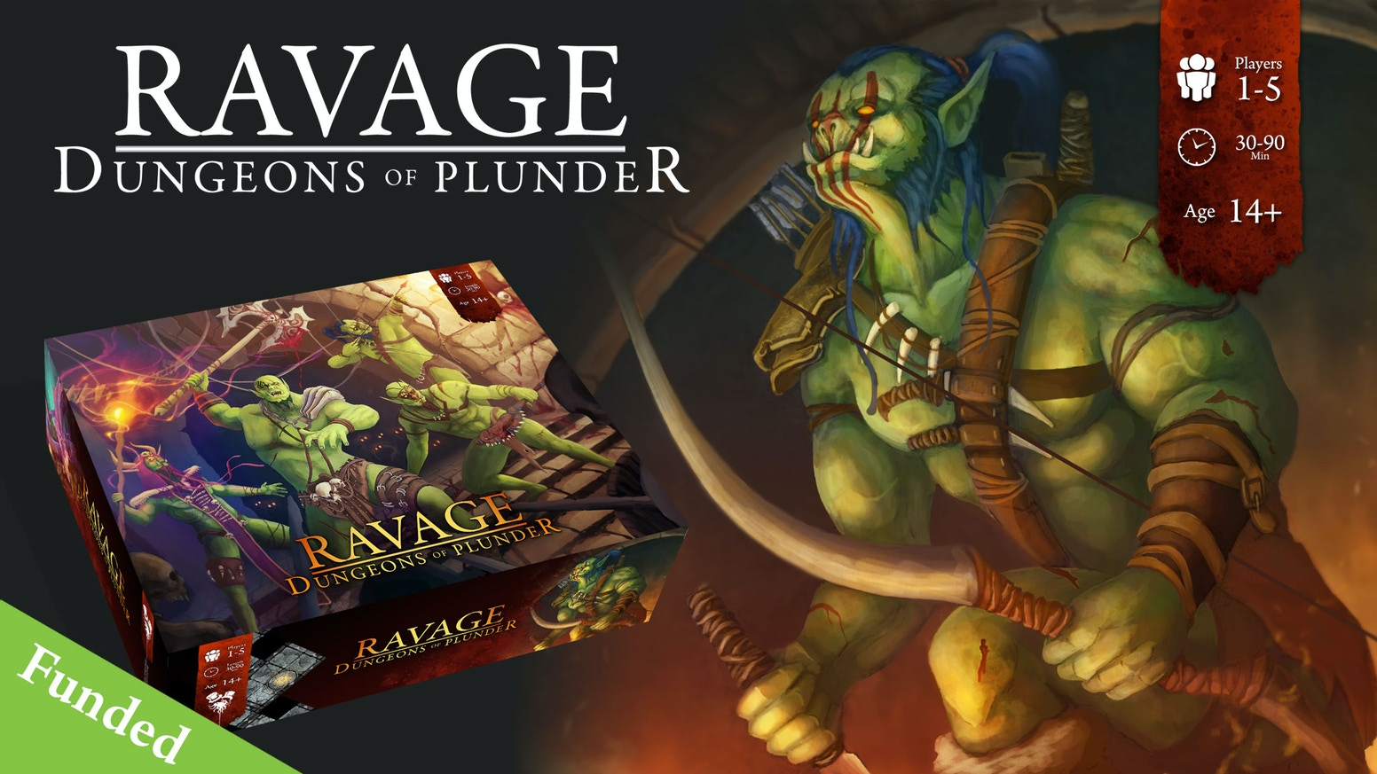 A dungeon delving board game where you play Orcs, featuring 3 game modes Solo, Co-Op and Treachery for 1-5 players.