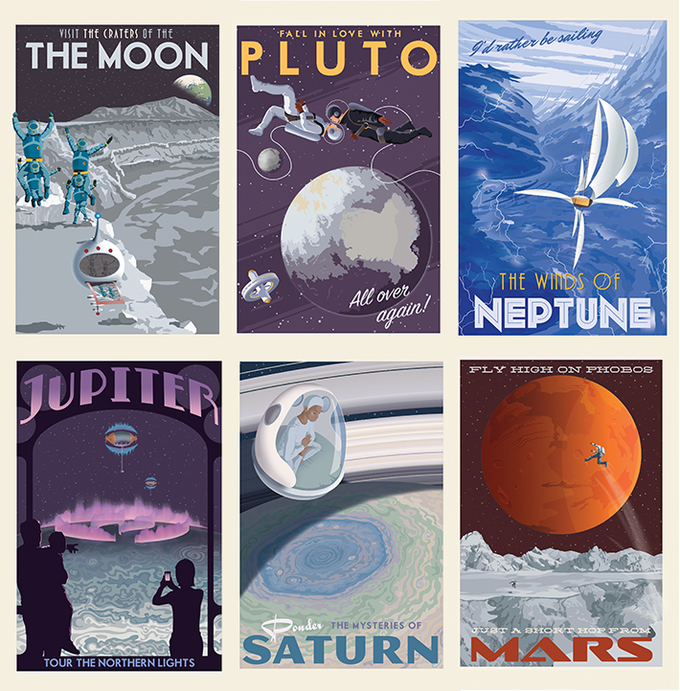 Collect six new postcards from Steve Thomas!