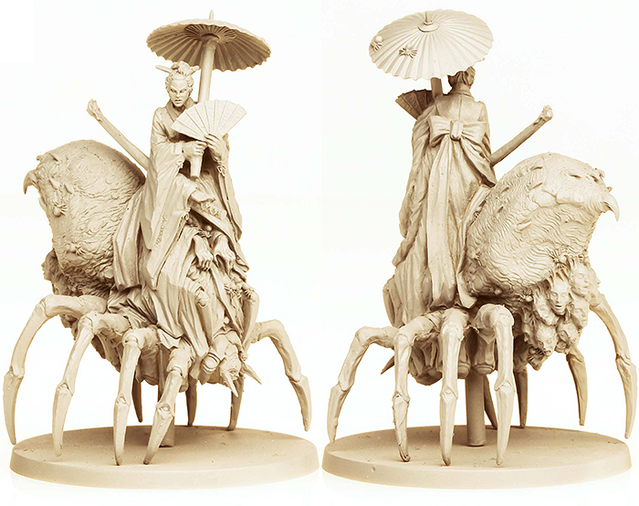 Jorogumo resin figure.