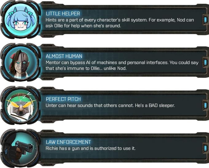 Skills and drafts of skill icons