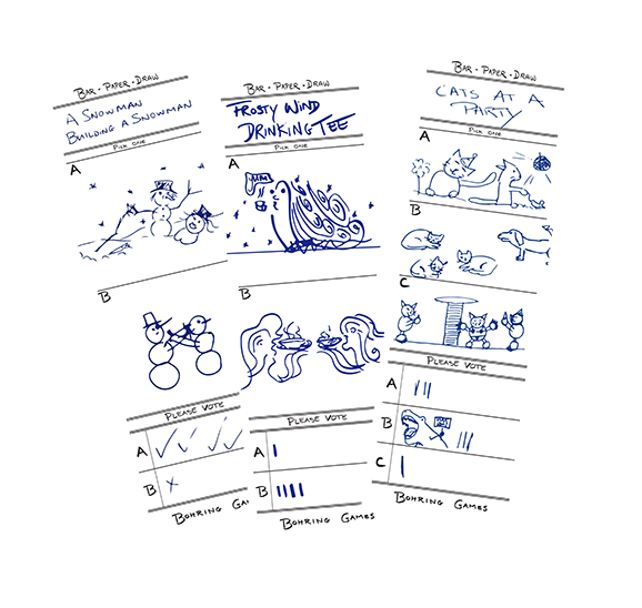 Bar-Paper-Draw: A Social Doodling Game by Bohring Games