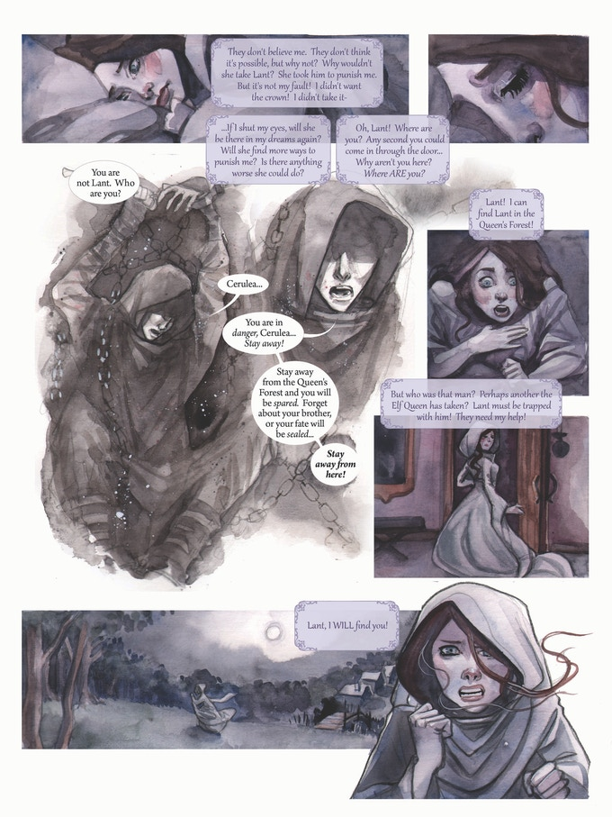 Page of Blue Eyes and the Beastling