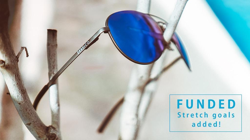 TITAN - Titanium aviator sunglasses with changeable lenses project video thumbnail