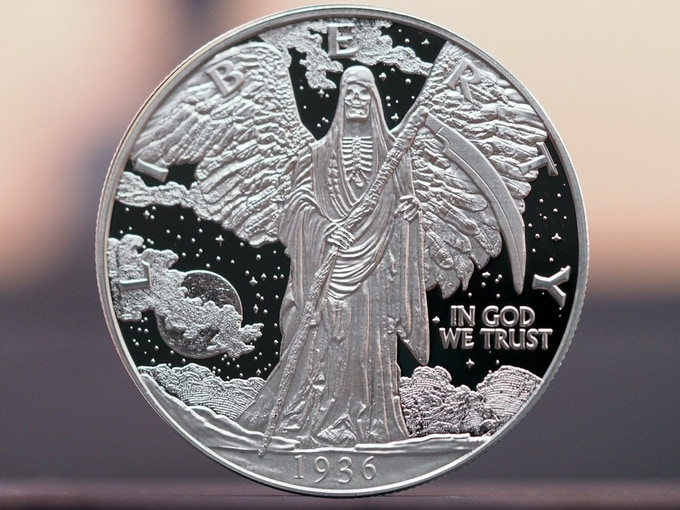 One Troy Ounce Solid Fine Silver Coins (.999)
