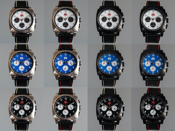 All possible Case, Dial, and Strap combinations - Click to enlarge