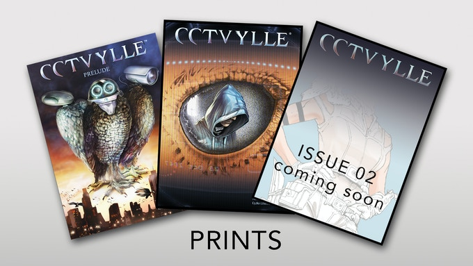 Prints of comic issue 00, 01, 02
