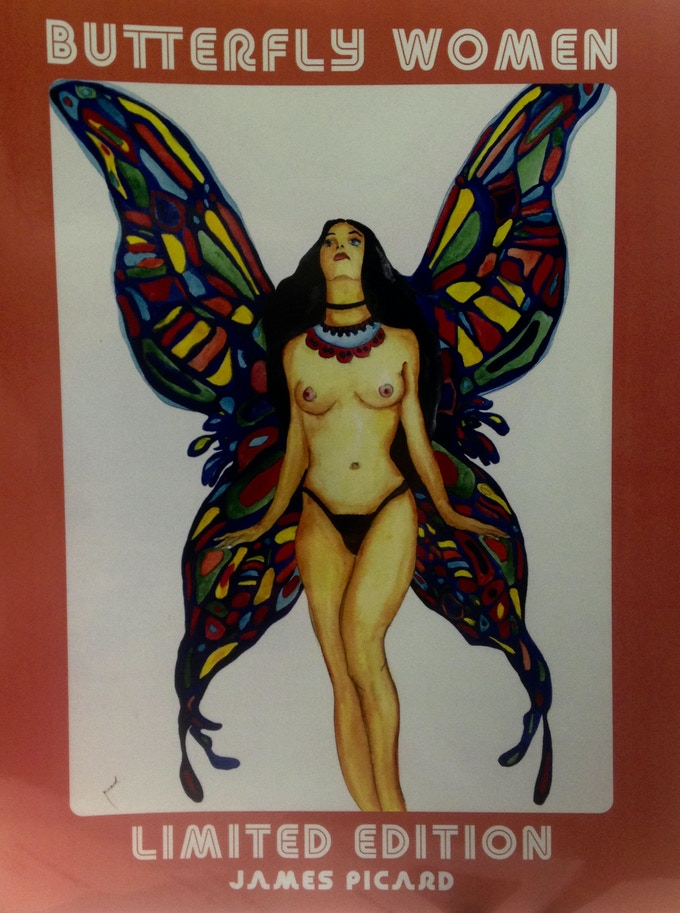 """Signed, Limited Edition Book of James Picard's """"Butterfly Women"""" Series."""