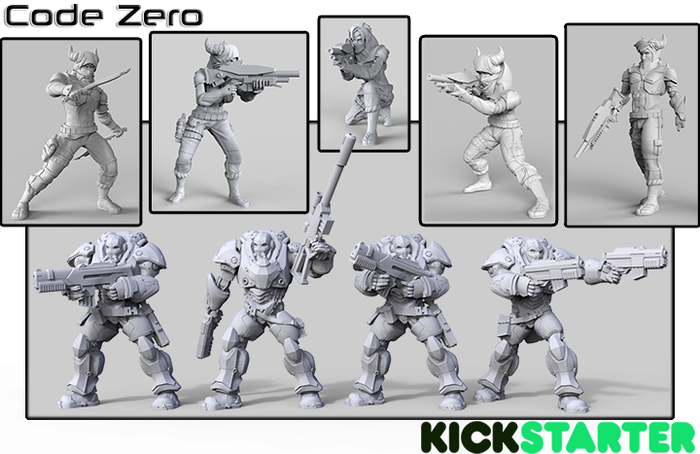 Creating new 32mm scifi miniatures for one of the factions of our skirmish game.