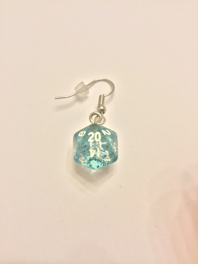 Blue Glitter with Stainless Steel Hangers