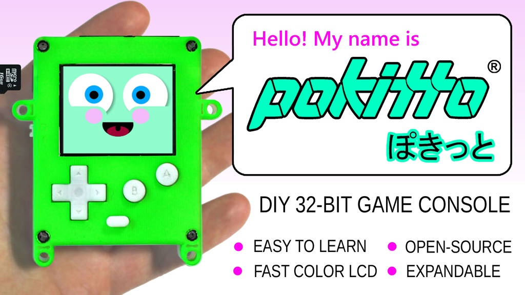 Pokitto - easy-to-learn and program Gaming Gadget! project video thumbnail