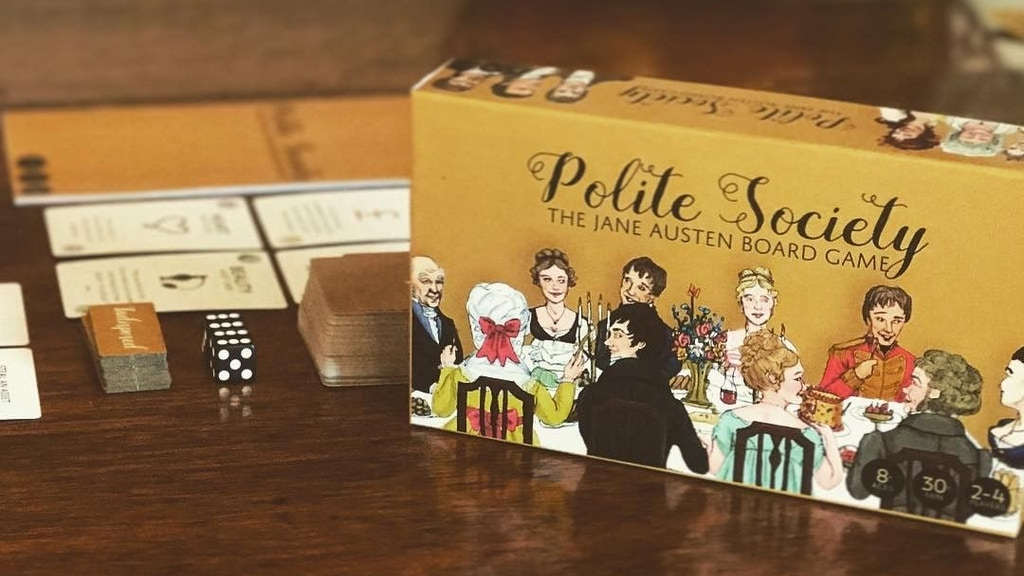 Polite Society The Jane Austen Board Game By Veldi Games