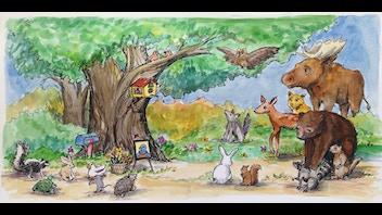 When Miss Bluebird Died : an illustrated children's book
