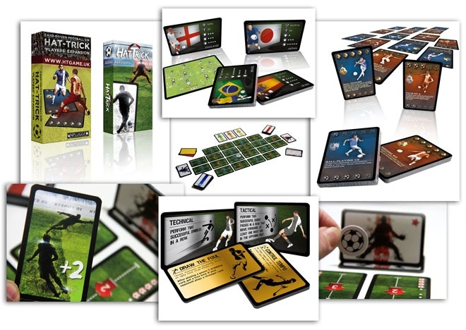 Some of the game components found in both 'Hat-Trick' the base game and the 'Players' expansion