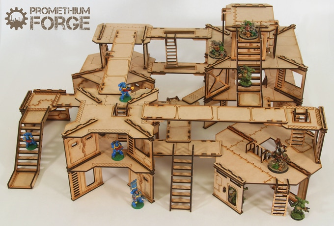 Industrial Bulkhead Terrain for 28mm Wargaming by Kevin